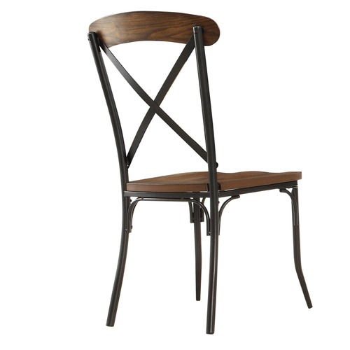 Industrial cross back restaurant chair