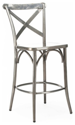 Industrial cross back bar chair