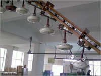 Three Wheel Overhead Fan Testing Conveyor