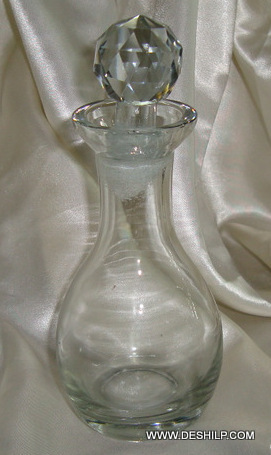Beautiful Decanter Glass Decanter Clear Crackle Bottle