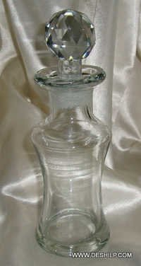 LASS PERFUME BOTTLE AND DECANTER