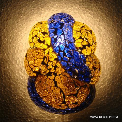 Aqua Gold Horn Wall Sconce