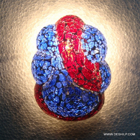 Antique Red and Blue Glass Lamps
