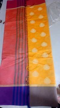 Cotton Silk multi border designer saree