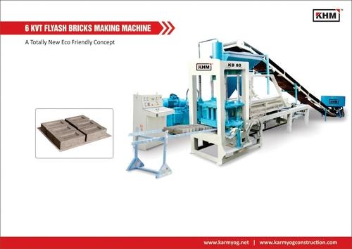 6 KVT Automatic Flyash Bricks Making Machine