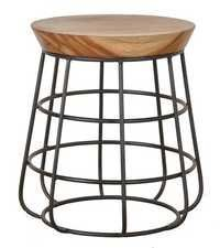 Round Industrial Stool