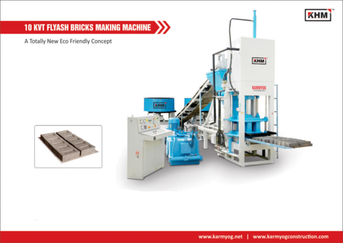 10 KVT Automatic Flyash Bricks Making Machine