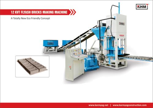 12 KVT Automatic Flyash Bricks Making Machine