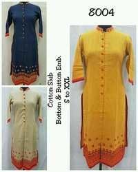 Long Kurti with embroidery