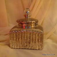 Wholesale Glass Jar with glass lid Storage
