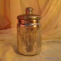 Wholesale Silver Glass Jar with glass lid Storage jar