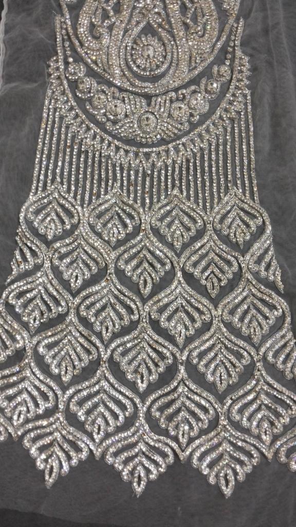 Designer lehnga kali in pure stone work