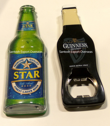 bottle opener in bottle shape
