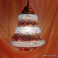 RED COLOUR MOSAIC GLASS HANGING