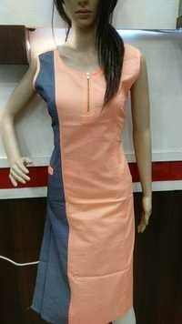 Cotton Kurtis With Zip