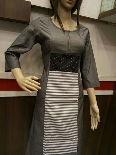 Ceramic Denim Kurtis