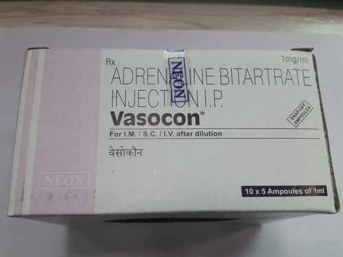 Vasocon Adrenaline Bitartrate Injection IP