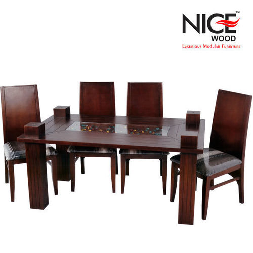 Metro Solid Wood 4 Seater Dinig Table