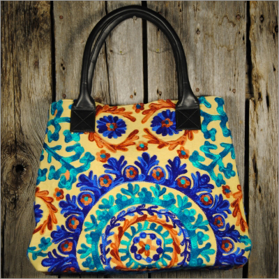 fancy fabric Handbags