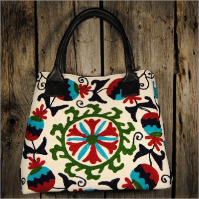 Fabric leather handbags