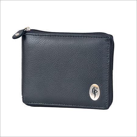 Leather Round Zip Gents Wallet
