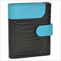 Leather Wallet With Croco Upper