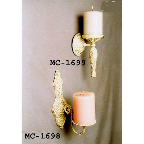 White Wash Candle Pillar