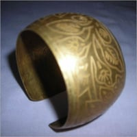 Eitched Brass Napkin Ring
