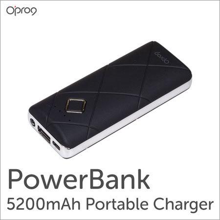 5200mAH Power Bank with Led Flashlight (Black)