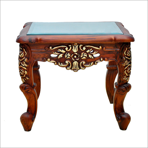 Carving Flowery Side Table