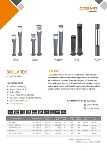 4 Bollard Root 10W
