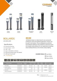 LED Bollard Tower Square Lights