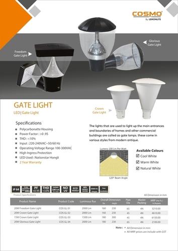 Imperia Grey Clear Gate Light