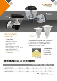Zenda Grey White Gate Lights