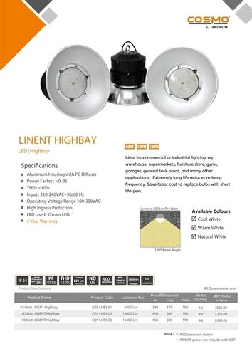 Fins Highbay 120Deg 80W