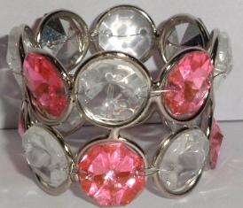 WHITE PINK CRYSTAL NAPKIN RING