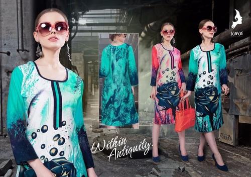 Rayon Printed Ladies Kurtis