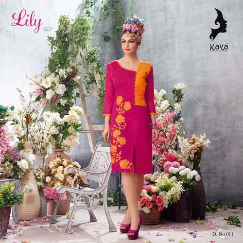 Rayon Embroideard Ladies Kurties