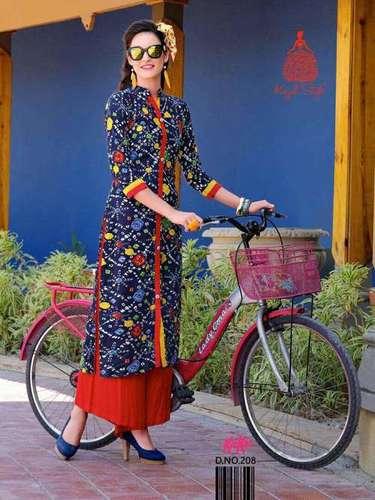 Rayon Printed Woman Kurtis