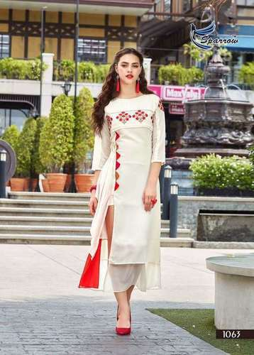 Georgatte Ladies Embroiderd Kurtis