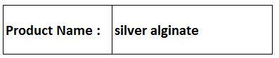 silver alginate