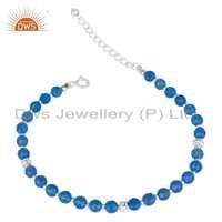 925 Silver Gemstone Beads Chain Bracelet