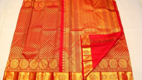 Original Guaranteed Gold line Silk Wedding  Sarees