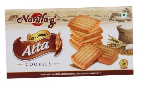 Less Sugar Atta Cookies