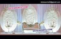 English Wedding Oval Shape Backdrop Frames