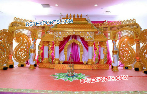 South Indian Manavarai Wedding Mandap Set