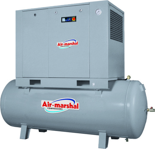 Screw Compressor With Air Dryer