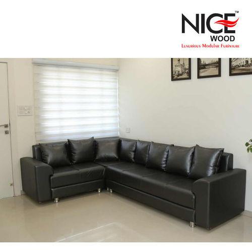 B-Leather Sofa Set