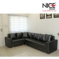 B-Leather Sofa Set