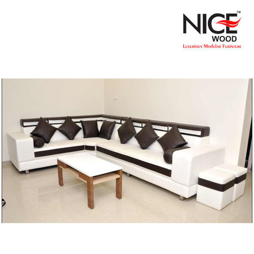 Sleek Leather Sofa